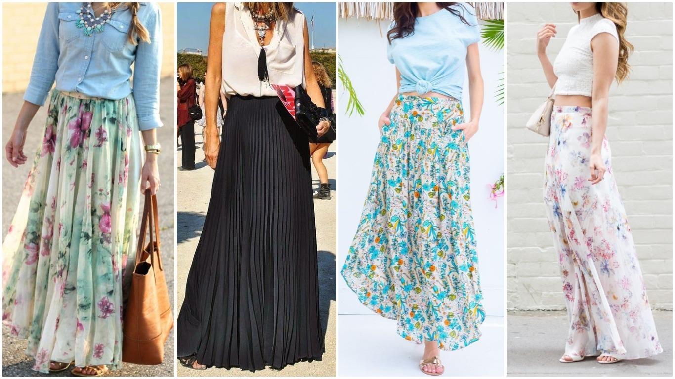 С чем одеть длинную юбку в разное время года?