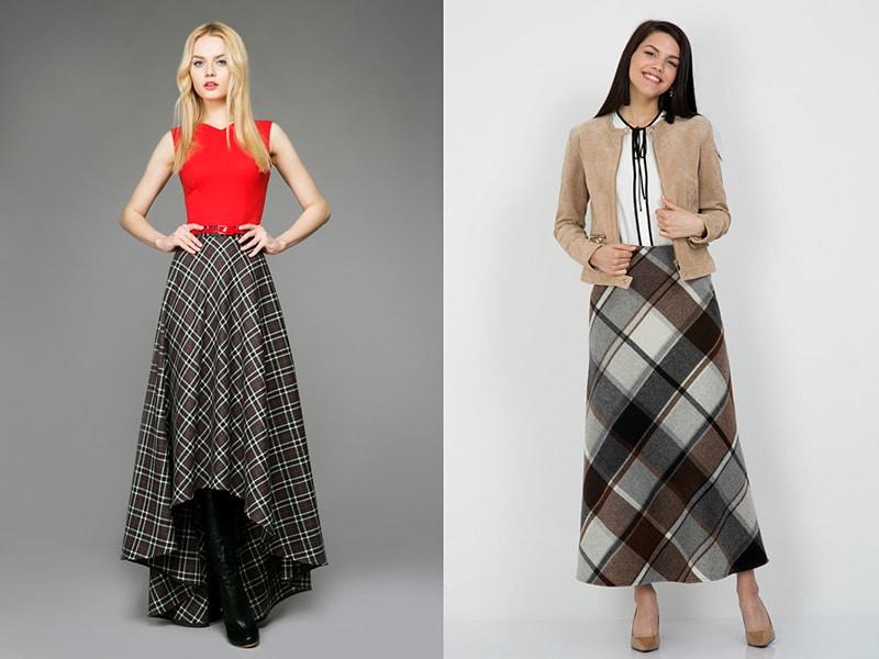 Что можно одеть с длинной юбкой?
