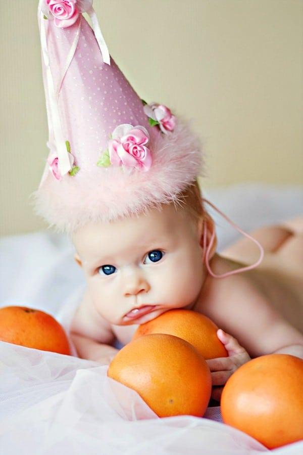 Как устроить фотосессию для младенца в 6 месяцев